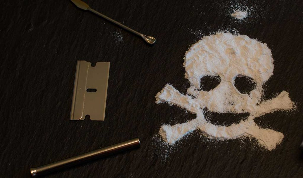 muerte por adicción a la cocaína