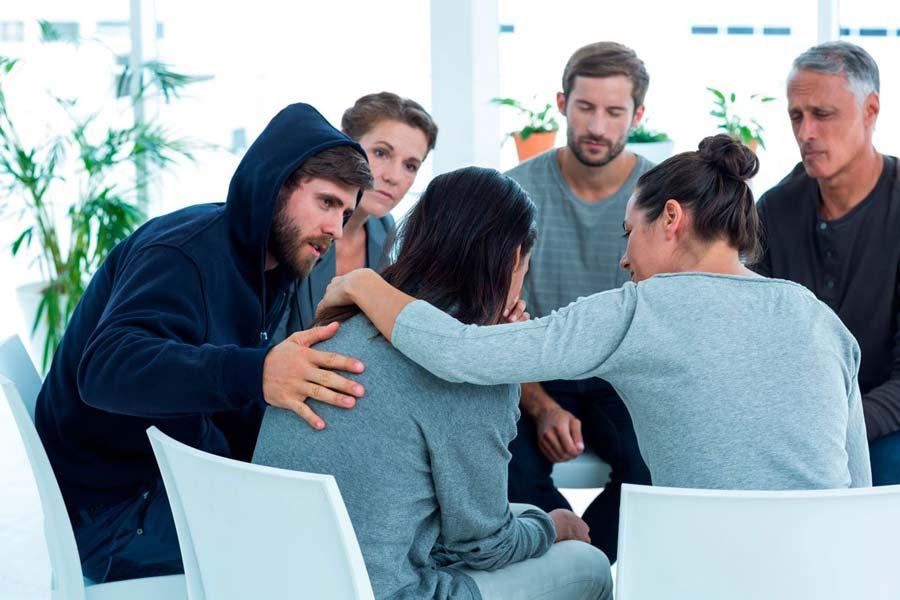 Grupo de terapia de adicciones