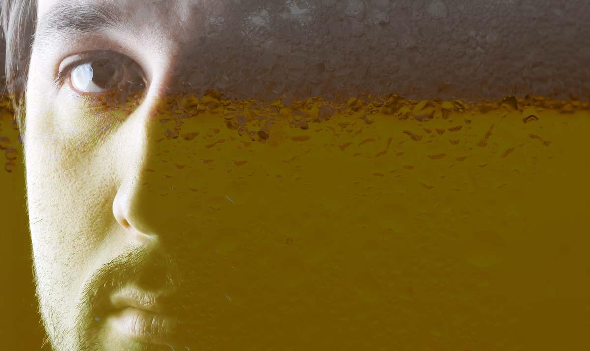 Paciente de centro de desintoxicación para alcohólicos