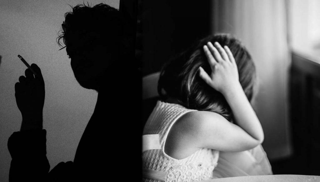 ex pareja adicta y su hija