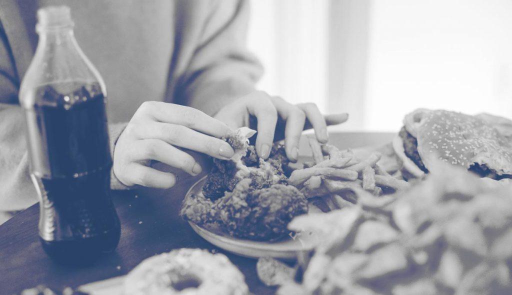 persona adicta a la comida